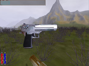 Complete Desert Eagle in silver